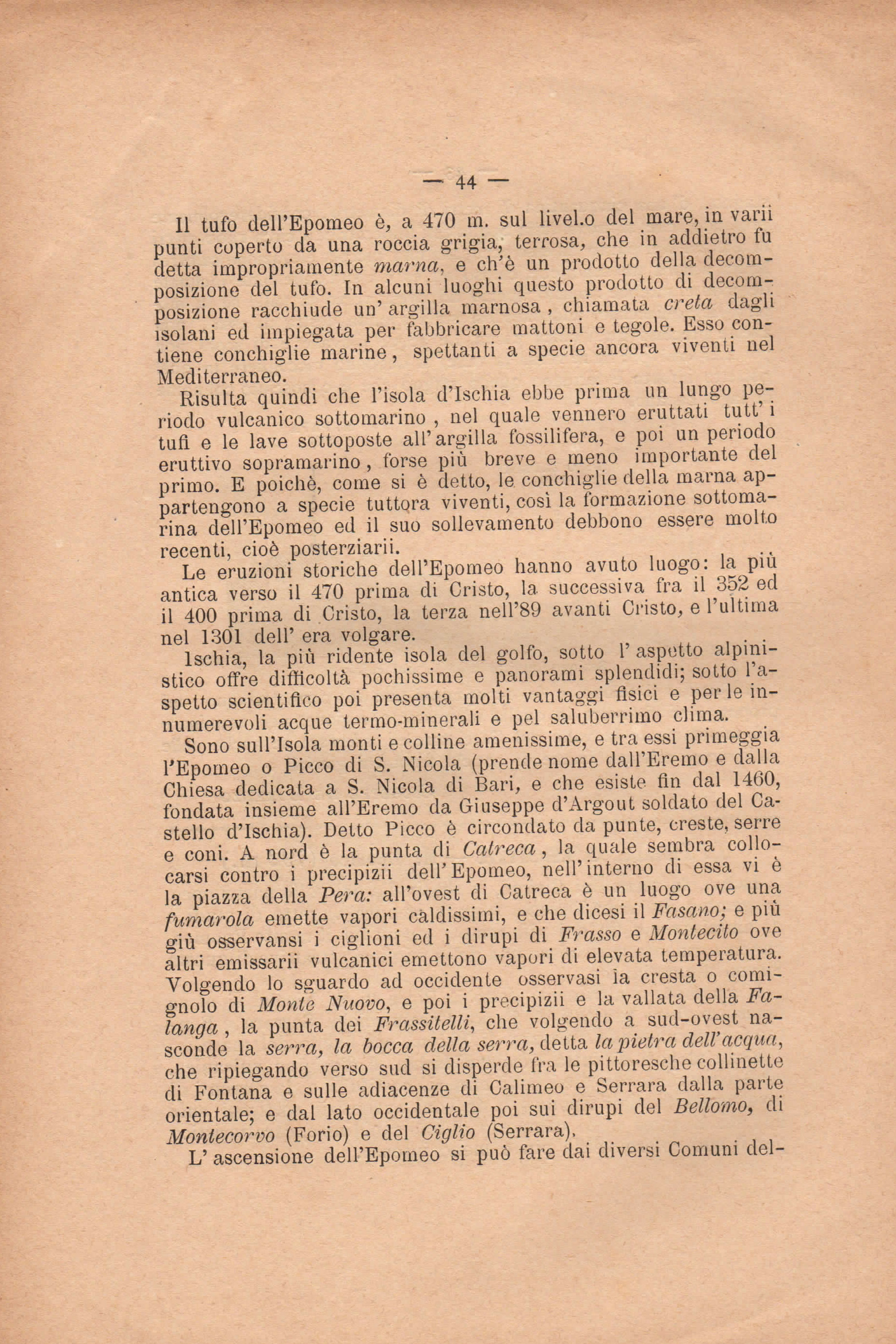 CAI Ischia - documento del 1893