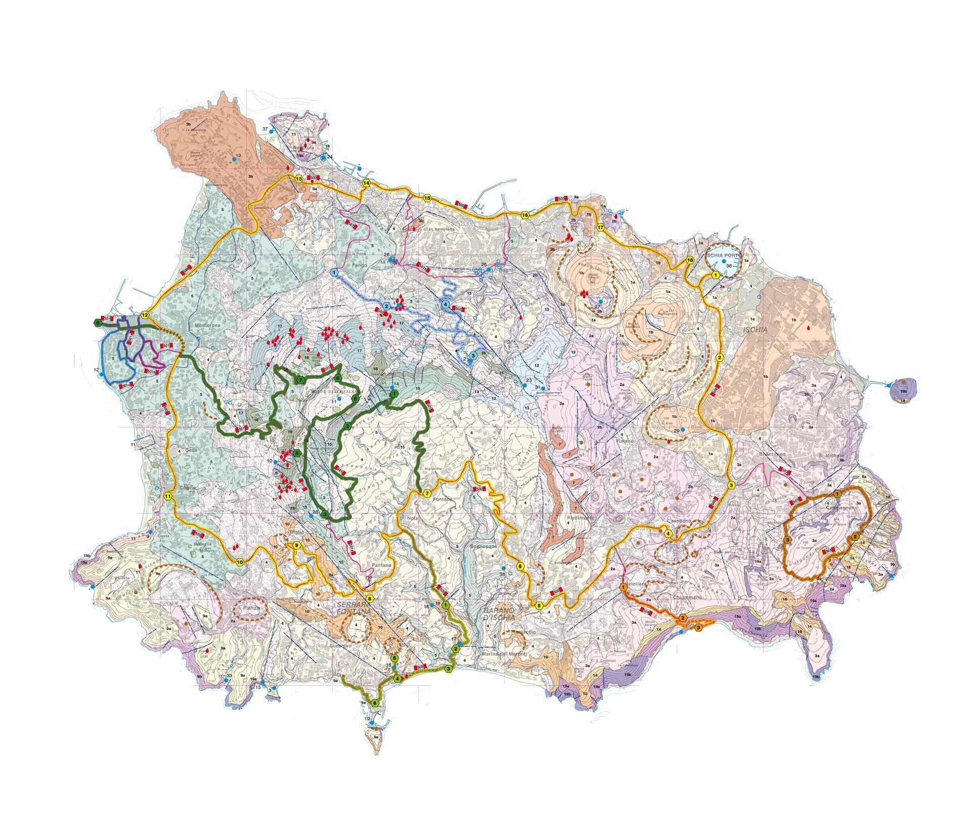 Mappa Isola d'Ischia